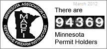 Number of how many permit to carry holders in MN